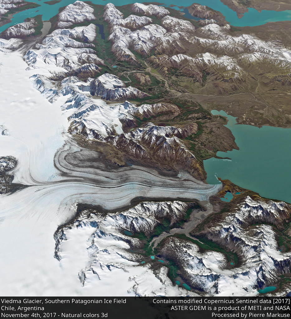 Viedma Glacier, Lake Viedma, Southern Patagonian Ice Field, Chile, Argentina 3d view