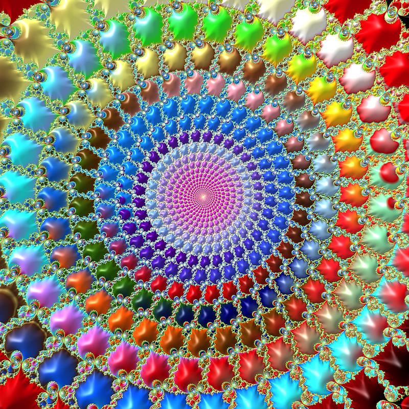 Обои фрактал, круги, узоры, разноцветный картинки на рабочий стол, фото скачать бесплатно