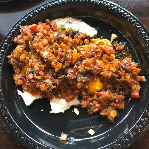 "Gujarati-style Breakfast! Super-yummmmm.... called ""Masala Half/Full Fry""-served at Egg-O-Holic, Chicago 