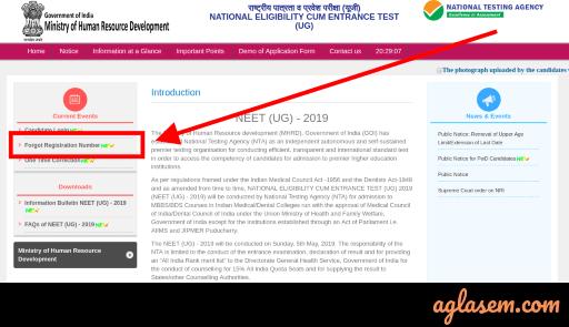 NEET 2019 Website