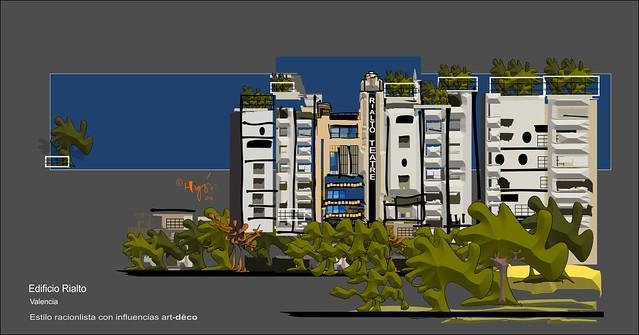 Edificio Rialto, Valencia (Serie:Joyas de Valencia)
