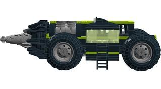 High Intensity Underground Mining Machine - Side