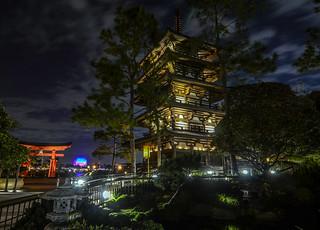 Japan Pavilion night Epcot pagoda | by gamecrew7