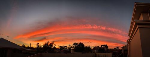 adelaide australia sa southaustralia clouds panorama sky sunrise urban