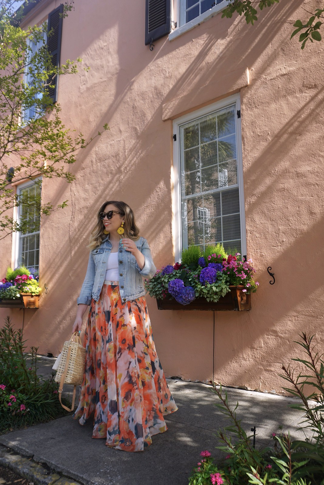 Chicwish Floral Maxi Dress | What to Wear in Charleston in the Spring | Charleston Packing List | Spring in Charleston | Best Outfits to Wear in Charleston | What I Packed for Charleston