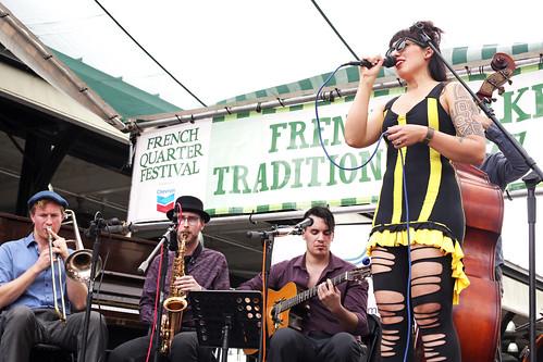 G & The Swinging Gypsies - 4.12.19. Photo by Bill Sasser.