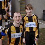 Mascot with Mark Lawson (captain)