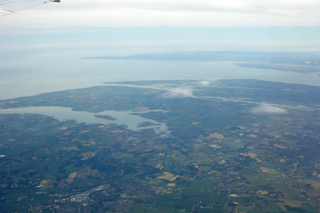 Foulness Island from the air