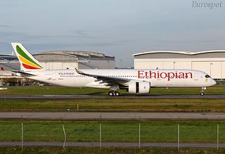 F-WZFK Airbus A350 Ethiopian | by @Eurospot
