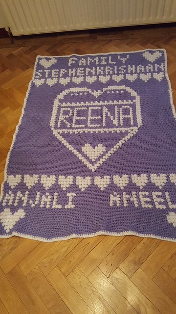 Family blanket for Reena