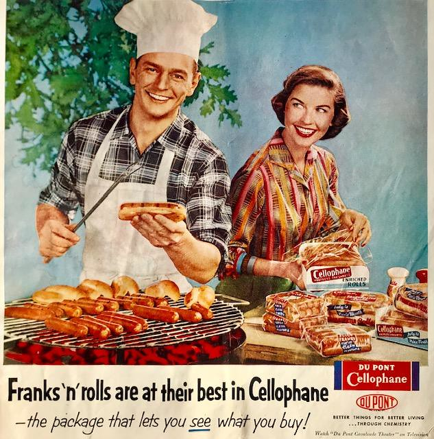 Grilling Cellophane Hotdogs