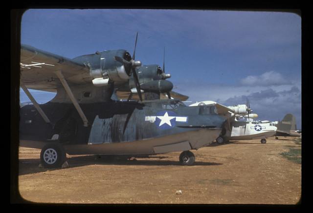 PBY-5A Catalina US Navy Saipan Mariana Islands 1945 JEC 02061 Maker: J Worth
