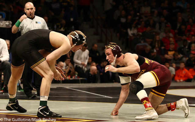 Cons. Semi - Kaleb Young (Iowa) 20-5 won by decision over Steve Bleise (Minnesota) 18-7 (Dec 4-1) - 190310cmk0050