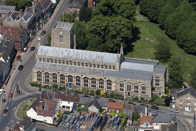 Bury St Edmunds - St Marys Church aerial view