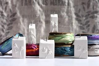 decisions, decisions... sari silk & botanical house pendants