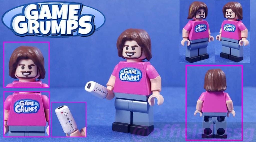 Custom Lego Game Grumps Arin Hanson W A Sculpted Wii Mot