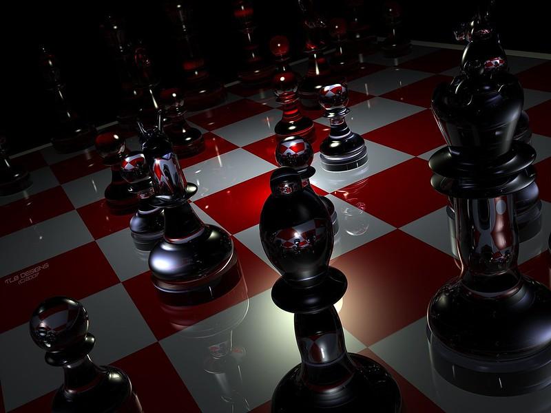 Обои фигуры, шахматы, доска, стекло картинки на рабочий стол, фото скачать бесплатно