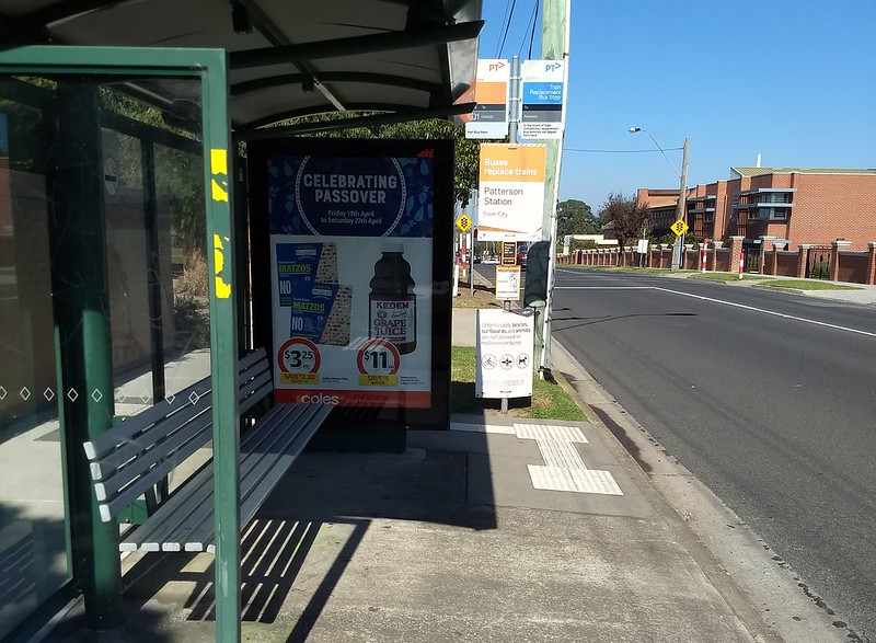 Bus stop, Jasper Road, Bentleigh (Patterson)