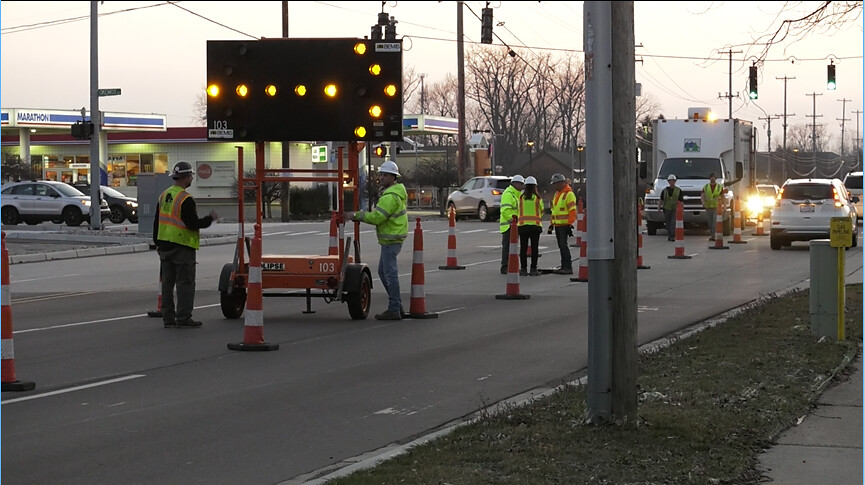 Road Drainage Work on Jolly & Okemos Road Intersection