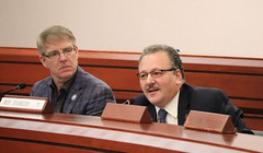 Rep. Tony D'Amelio asks questions during a recent General Law Committee hearing.