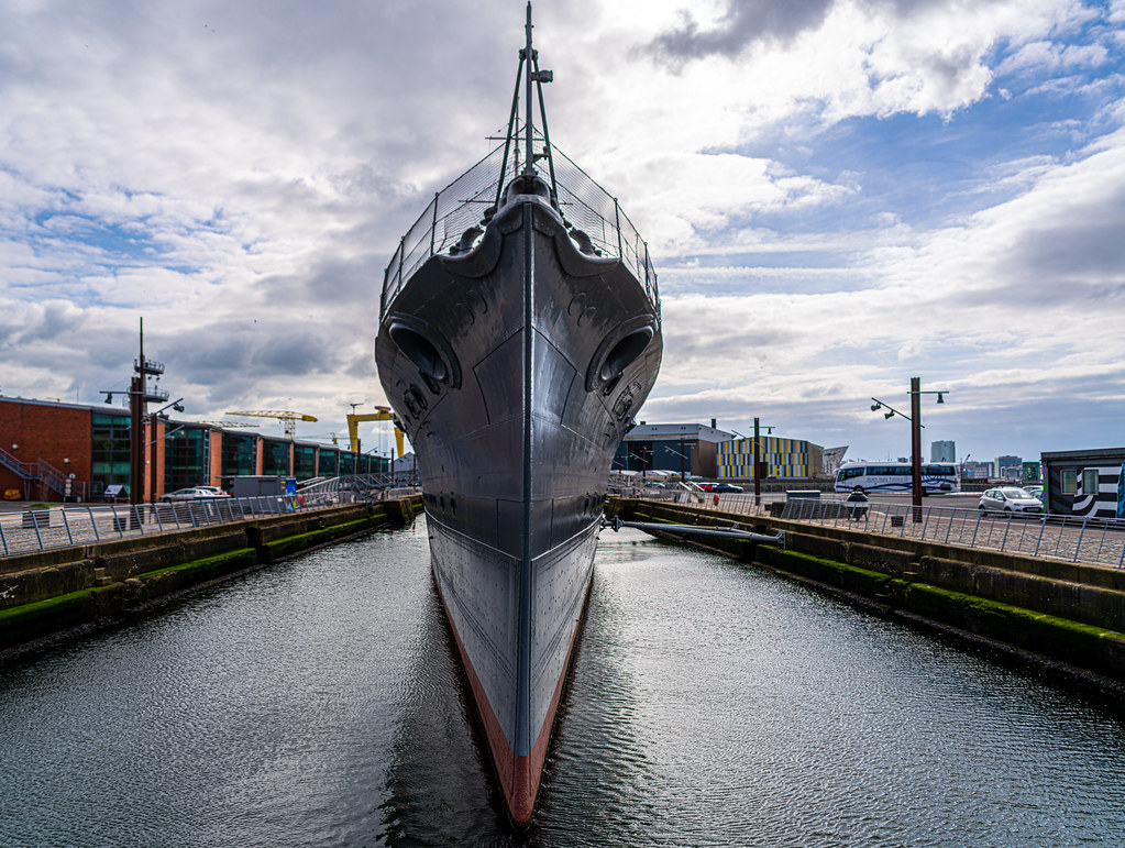 THE HMS CAROLINE ENTERED SERVICE IN 1914 AND NOW IT IS A FLOATING MUSEUM IN BELFAST 009
