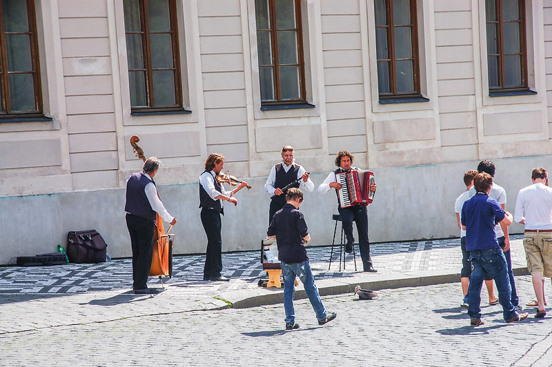 布拉格城堡廣場藝人