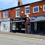 Three hairdressing shops side by side on Plungington Road, Preston