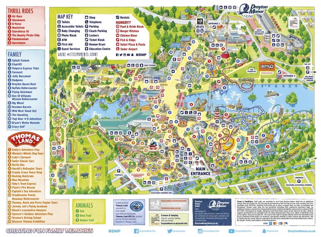 Drayton Manor Map Drayton Manor 2016 Park Map | Drayton Manor 2016 Park Map | Flickr