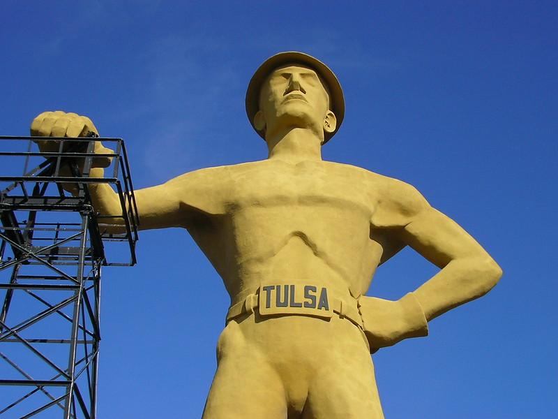 the Golden Driller Tulsa