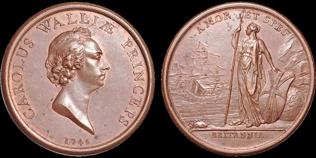 Jacobite Rebellion Young Pretender medal
