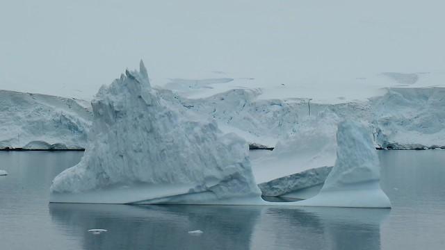 Iceberg on calm water, on the Antarctic Peninsula.