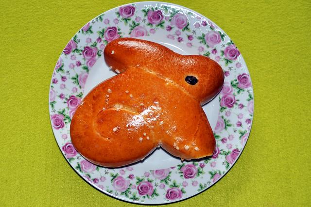 Ostern Osterhase Osterhäschen Hefeteig ... Foto: Brigitte Stolle
