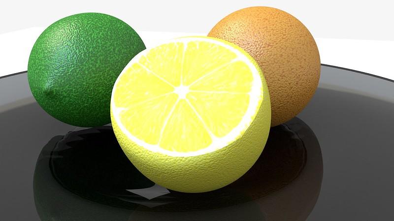 Обои лайм, лимон, апельсин, цитрусы, 3d картинки на рабочий стол, фото скачать бесплатно