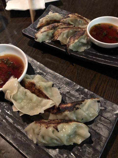 Housemade pork potstickers