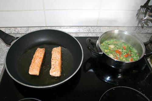 02 - Lachs braten & Gemüse kochen