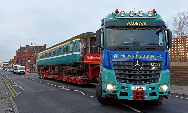 Railway Coach on the Move