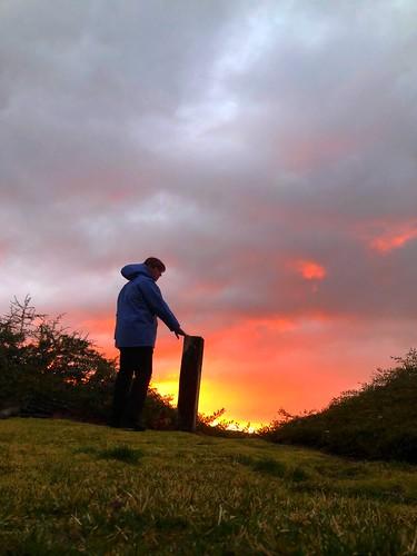 ilovenature selftimed nature colors clouds sky raincoat santaclarita iphone8plus 10secondtimer timer sunday february sunset day41 365days