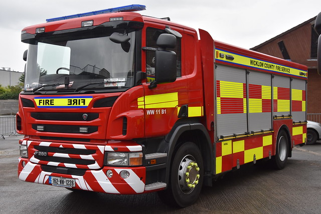 Wicklow County Fire Service 2016 Scania P280 Sidhean Teo/HPMP Fire ET 162WW1228