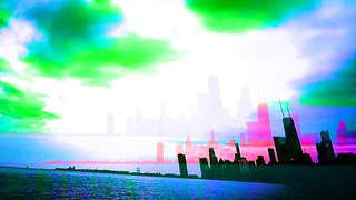 I've been experimenting with #Hyperspektiv for iPhone on my bike rides into #Chicago's downtown. I don't have a strong grasp on its effects yet, but it is at least fun. #glitch #GlitchArt #GlitchPhotography | by David Chartier