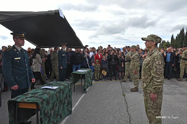 Prvo polaganje zakletve vojnika Vojske Crne Gore na dobrobovoljnom služenju roka i vojnika po ugovoru