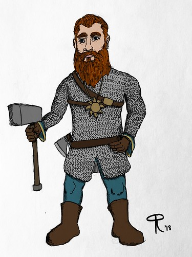 Radolphus Ironsides- Dwarven Cleric of the Grave | by The DragonJedi