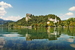 on Lake Bled/ Blejsko jezero