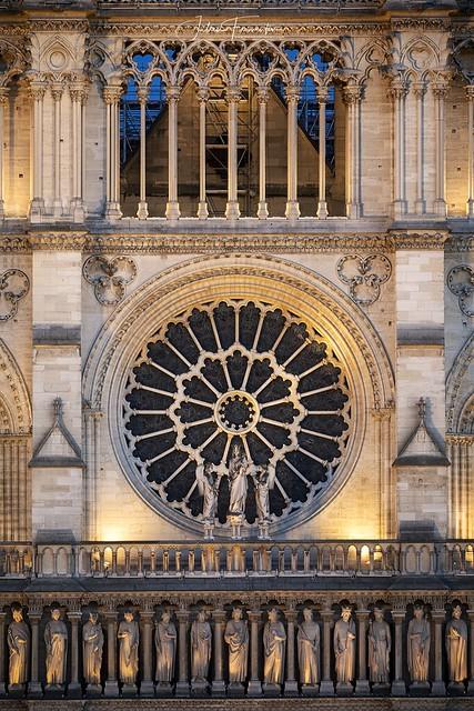 Détail de la Cathédrale Notre-Dame de Paris