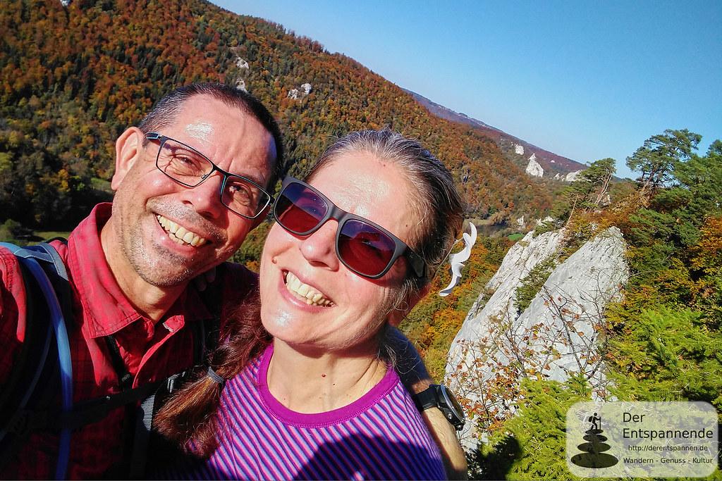 Selfie am Kaiserstand ins Donautal