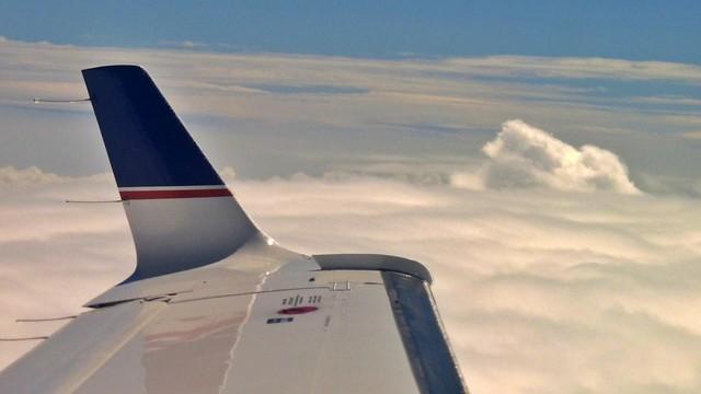 Über den Wolken auf dem Flug nach Mudgee