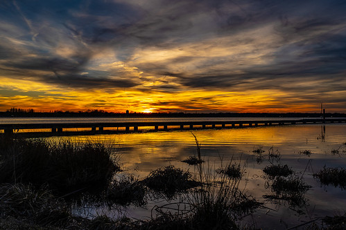 sunset clouds shelby farms lake landscape sony a7iii fe28 wetlands memphis tennessee
