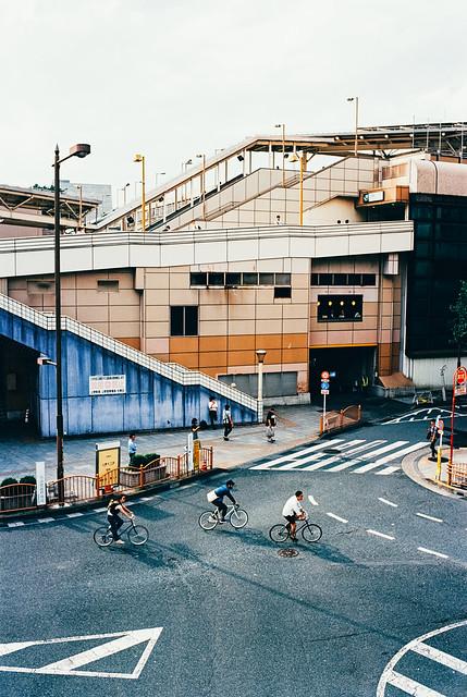 outside ueno station.