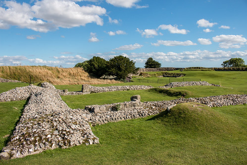 oldsarum castle royal palace ruins english heritage stonework landscape salisbury wiltshire grass field sky tree