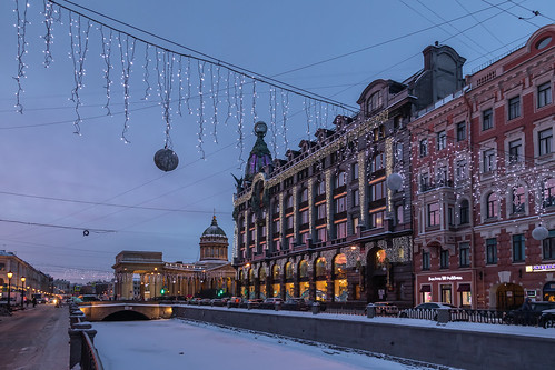 saintpetersburg sunrise winter street ancient city outdoor old cathedral town cold building morning blue colorful russia art river purple house cityscape sky skyscape architecture nature frost ice catedral outdoors petersburg russian st leningradoblast ru