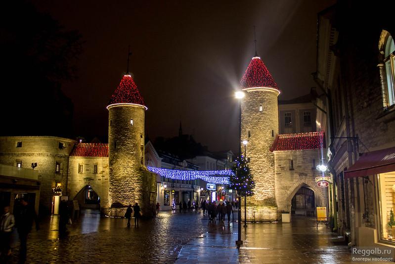 Таллин Старый город Рождество